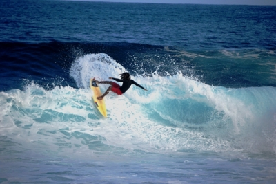 Surfing at marina�s backyard